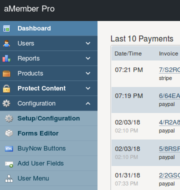 Membership software - aMember Pro